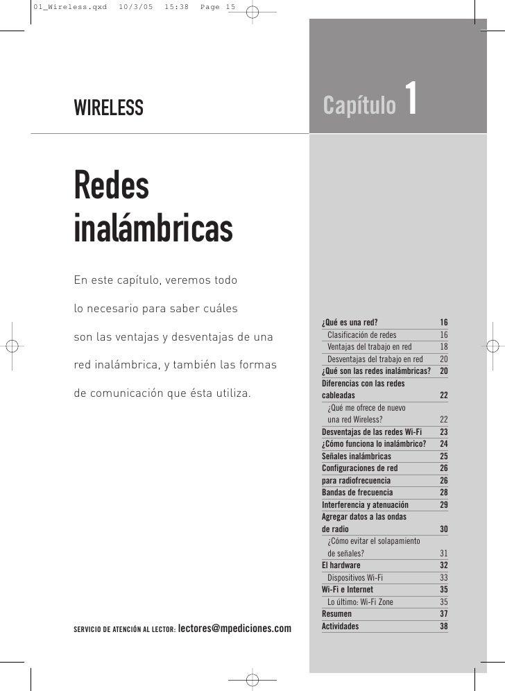 WIRELESS                                                   Capítulo               1 Redes inalámbricas En este capítulo, v...