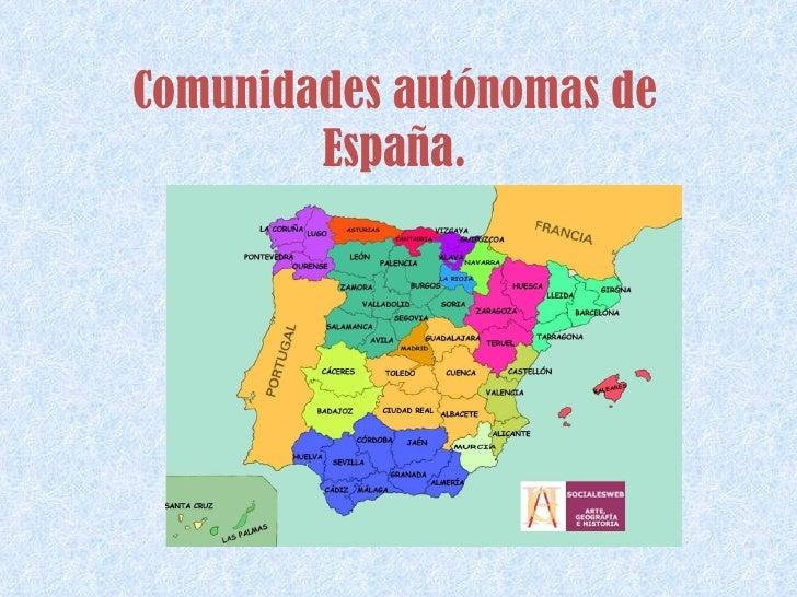 Comunidades autónomas de España.