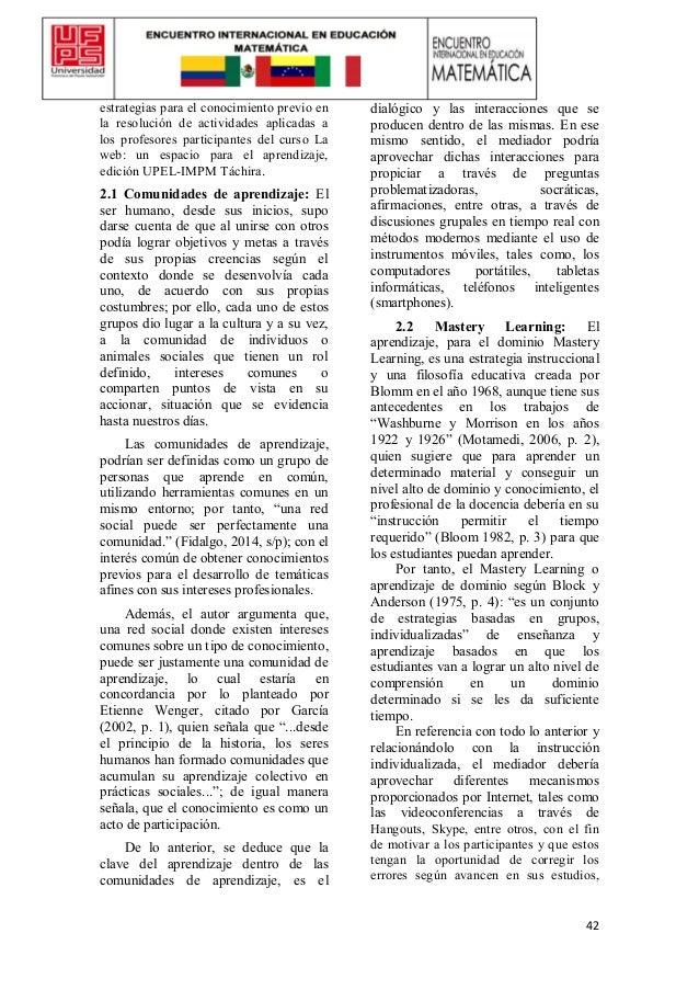 42 estrategias para el conocimiento previo en la resolución de actividades aplicadas a los profesores participantes del cu...