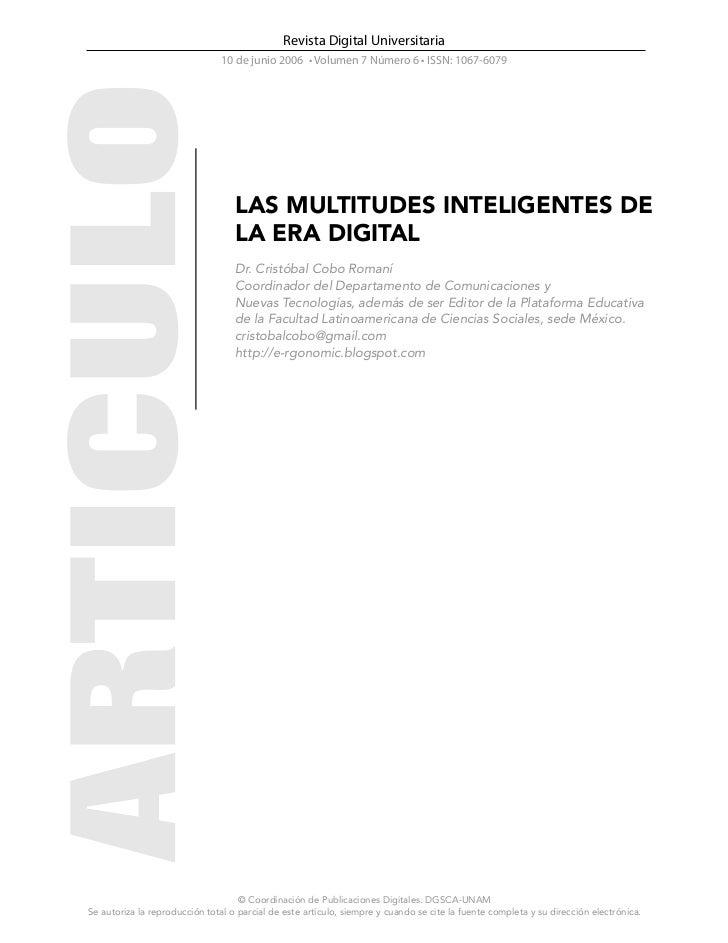 Revista Digital Universitaria                                10 de junio 2006 • Volumen 7 Número 6 • ISSN: 1067-6079      ...