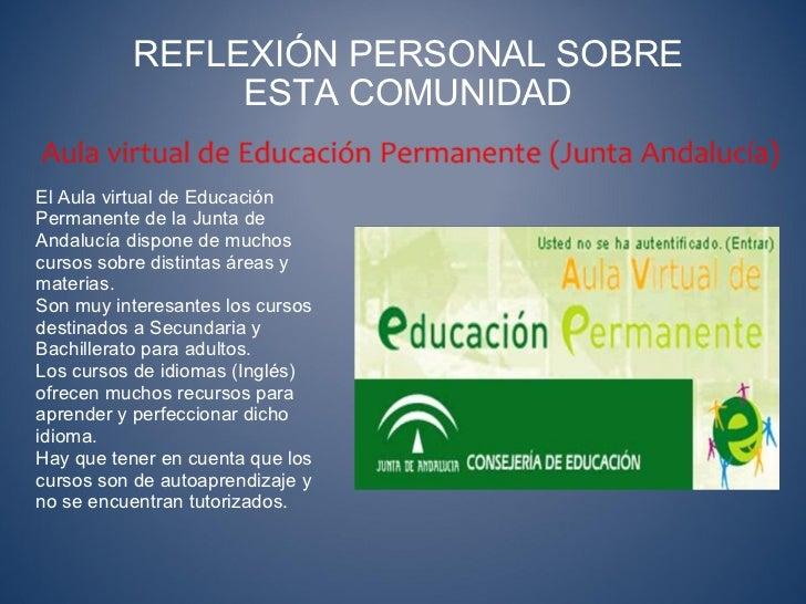 Comunidades virtuales de aprendizaje for Junta de andalucia educacion oficina virtual