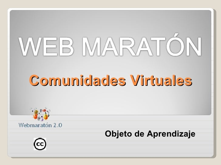 Comunidades Virtuales Objeto de Aprendizaje