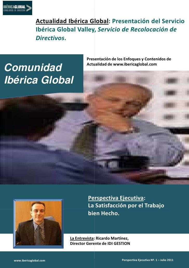 Actualidad Ibérica Global Presentación del Servicio                                    Global:                Ibérica Glob...