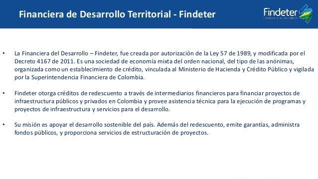 Código: DP-FO-024 Versión: 2 Fecha de aprobación: 18-may-2016 • La Financiera del Desarrollo – Findeter, fue creada por au...