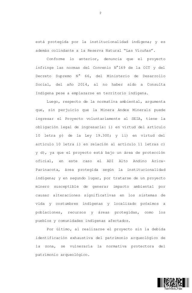Fallo Corte Suprema: suspende exploraciones minera en Anocarire, Arica y Parinacota Slide 2