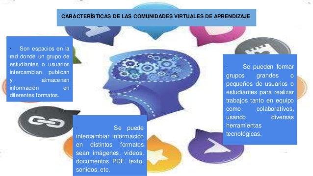 CARACTER�STICAS DE LAS COMUNIDADES VIRTUALES DE APRENDIZAJE � Son espacios en la red donde un grupo de estudiantes o usuar...