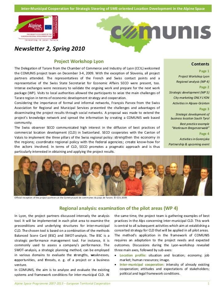Inter‐MunicipalCooperationforStrategicSteeringofSME‐orientedLocationDevelopmentintheAlpineSpaceNewsletter...