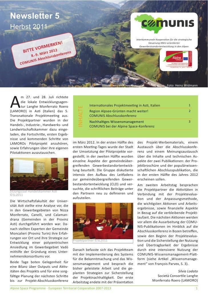 Newsletter 5Herbst 2011                                                                                    Interkommunale ...