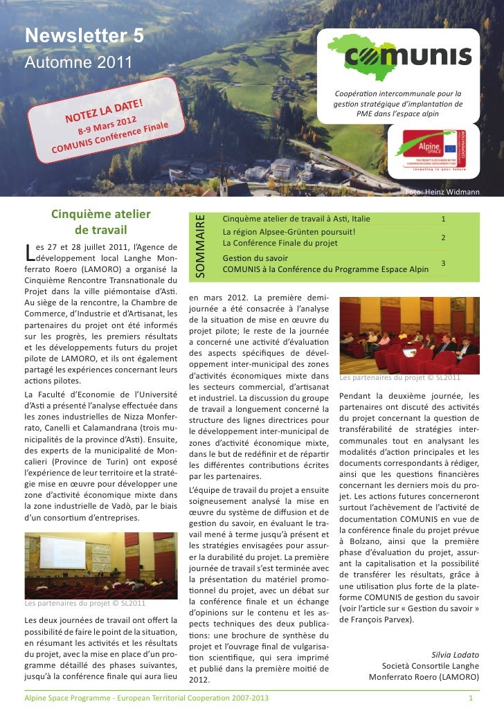 Newsletter 5Automne 2011                                                                                          Coopéra!...
