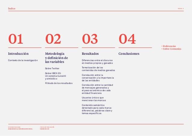 Estudio de branding digital sobre 7 marcas financieras del IBEX-35 en medios propios y medios ganados en Twitter Slide 2