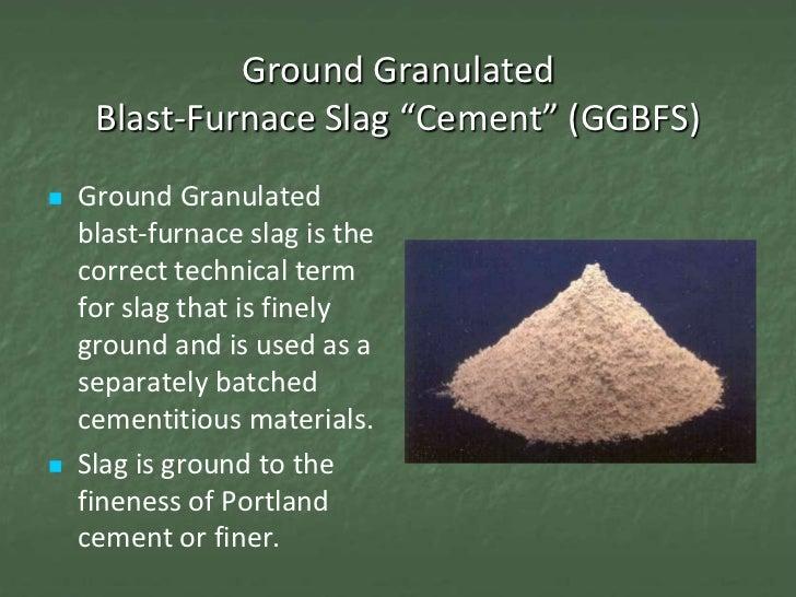 Blast Furnace Slag In Concrete : Con session slag cement