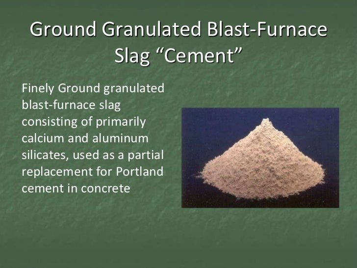 Use Of Slag In Concrete : Con session slag cement