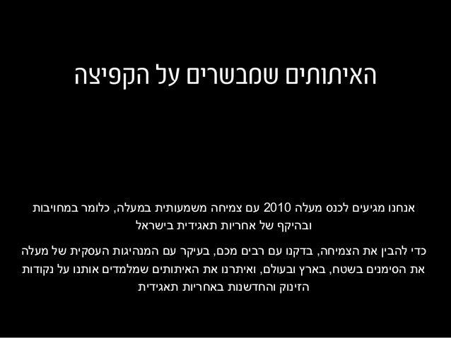 מעלה לכנס מגיעים אנחנו2010במחויבות כלומר ,במעלה משמעותית צמיחה עם בישראל תאגידית אחריות של וב...