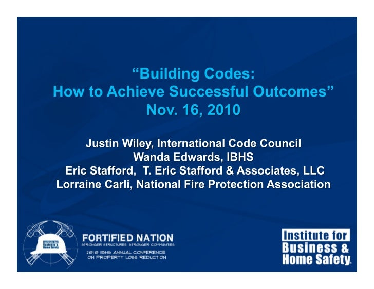 Building Codes – How to Achieve Successful Outcomes