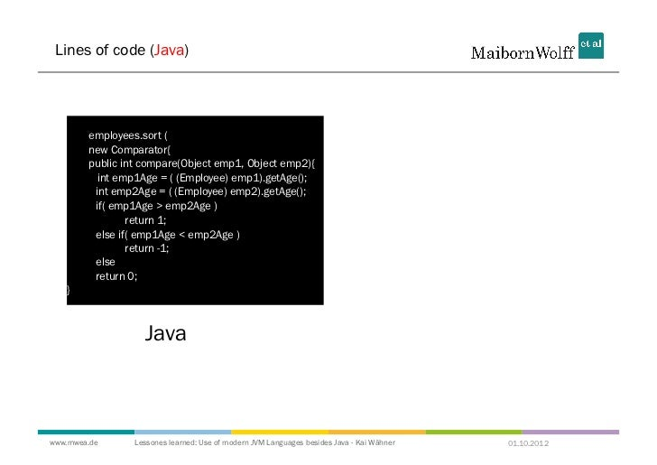 Lessons learned: Use of Modern JVM Languages besides Java - JavaOne 2…