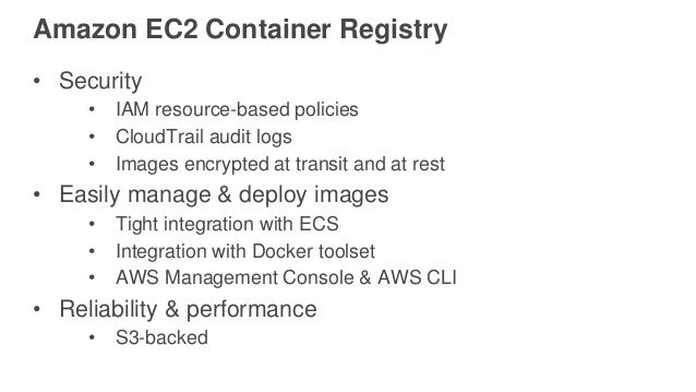 AWS re:Invent 2016: Development Workflow with Docker and