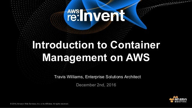 Introduction To Container Management On Aws