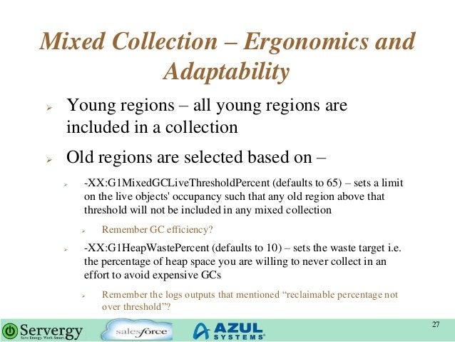 Mixed Collection – Ergonomics and Adaptability  Young regions – all young regions are included in a collection  Old regi...