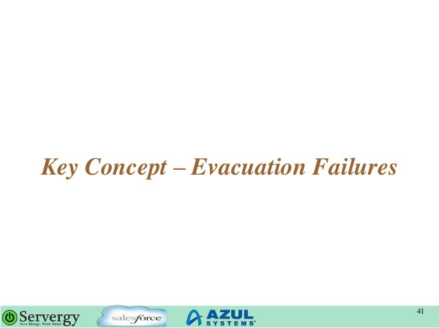 Key Concept – Evacuation Failures 41