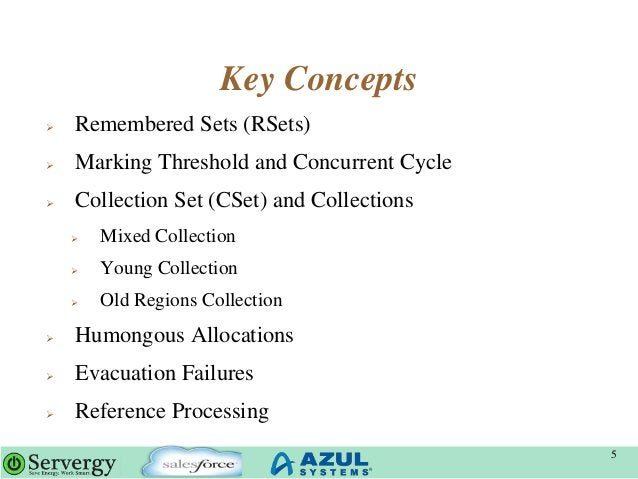 Key Concepts  Remembered Sets (RSets)  Marking Threshold and Concurrent Cycle  Collection Set (CSet) and Collections  ...