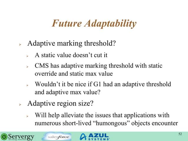 "Future Adaptability  Adaptive marking threshold?  A static value doesn""t cut it  CMS has adaptive marking threshold wit..."