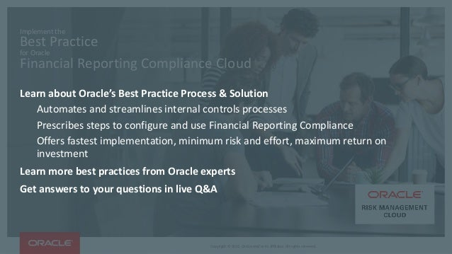 OOW16 Implement the Best Practice for Oracle Financial Reporting C – Oracle Financial Jobs