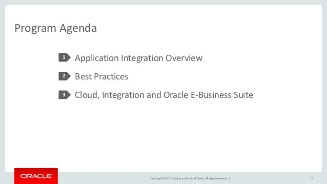 OOW15 - Oracle E-Business Suite Integration Best Practices Slide 3