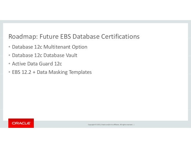 Oow15 Ebs Certification And Roadmap