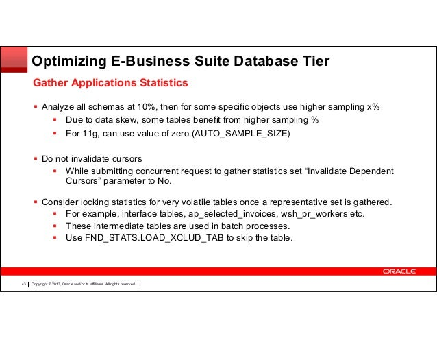 Getting optimal performance from oracle e-business suite