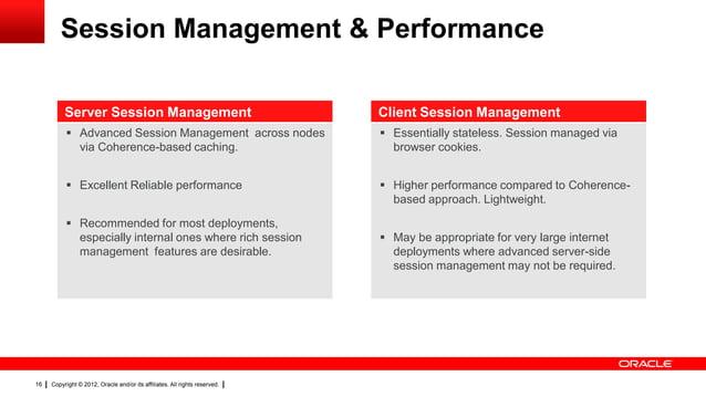 Session Management & Performance Server Session Management  Client Session Management   Advanced Session Management acros...