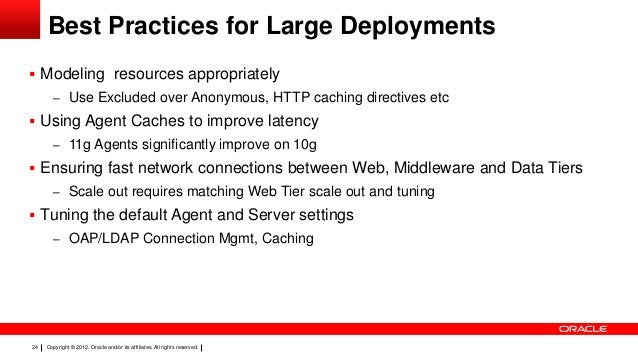 Best Practices for Large Deployments  Modeling resources appropriately – Use Excluded over Anonymous, HTTP caching direct...