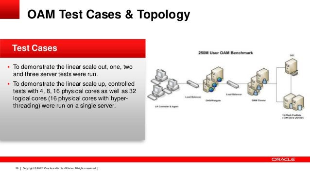 OAM Test Cases & Topology Test Cases  To demonstrate the linear scale out, one, two  and three server tests were run.  T...