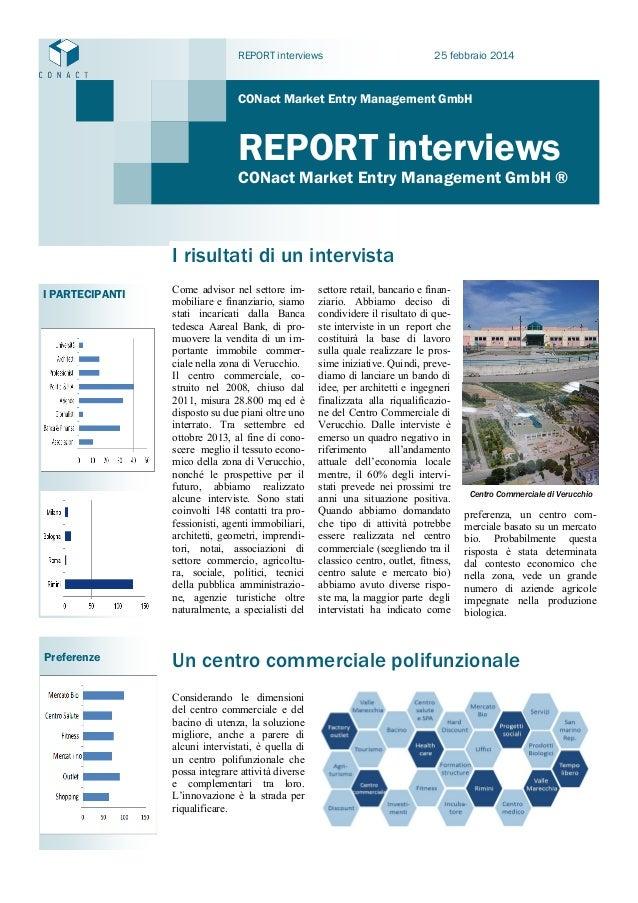 REPORT interviews  25 febbraio 2014  CONact Market Entry Management GmbH  REPORT interviews  CONact Market Entry Managemen...