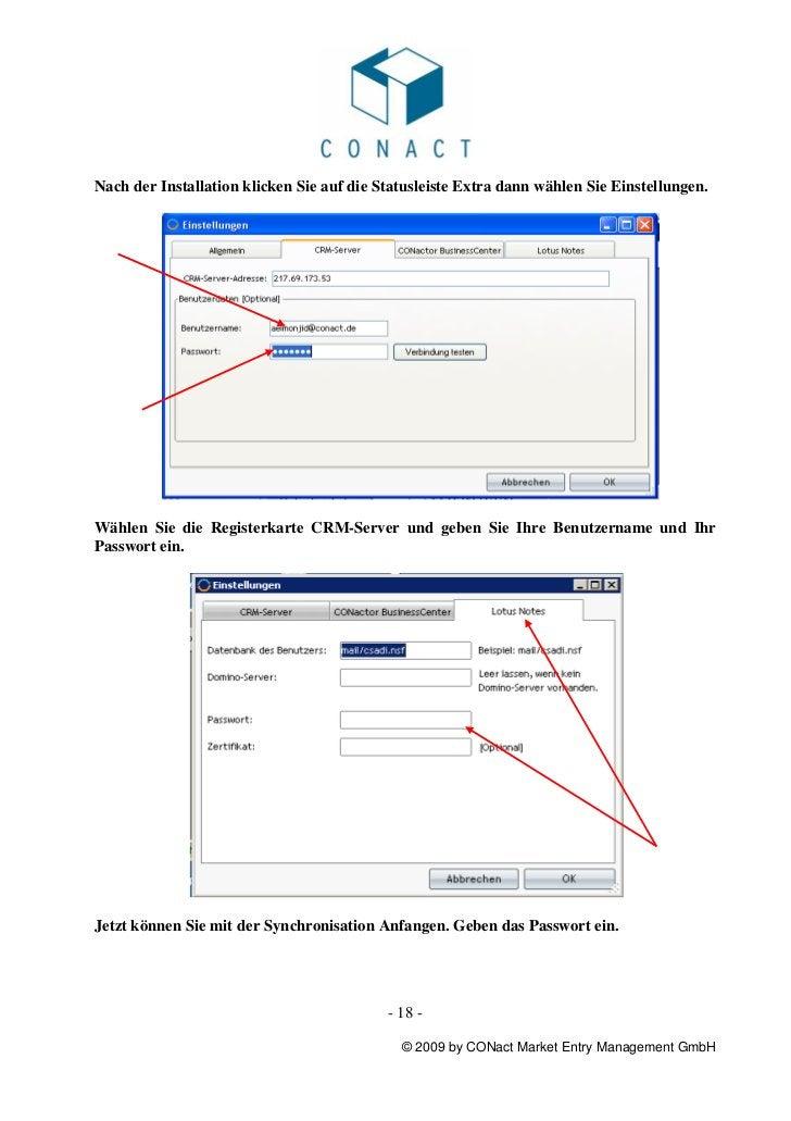 Nach der Installation klicken Sie auf die Statusleiste Extra dann wählen Sie Einstellungen.Wählen Sie die Registerkarte CR...