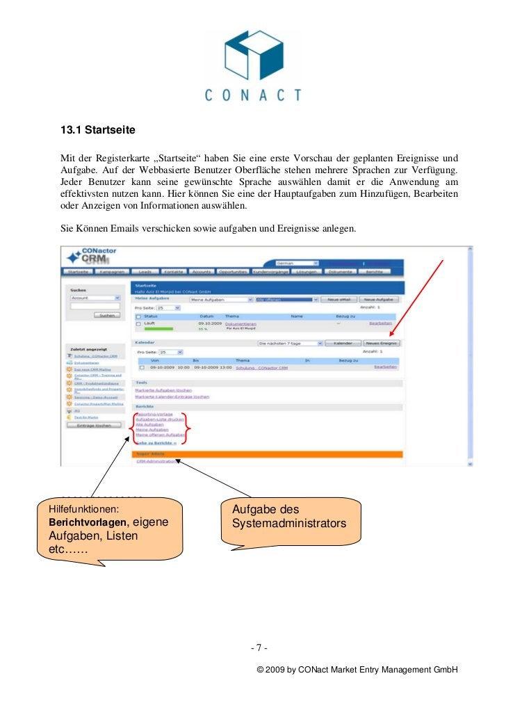 """13.1 Startseite  Mit der Registerkarte """"Startseite"""" haben Sie eine erste Vorschau der geplanten Ereignisse und  Aufgabe. A..."""