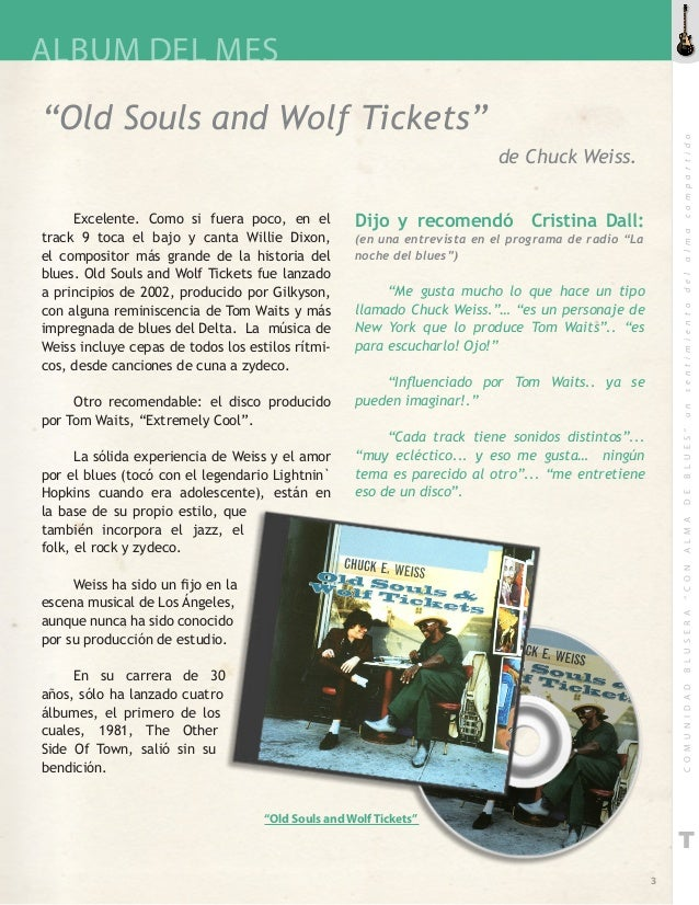 Chuck E. Weiss Old Souls and Wolf Tickets