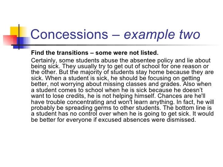 Concession Definition Essay Outline img-1
