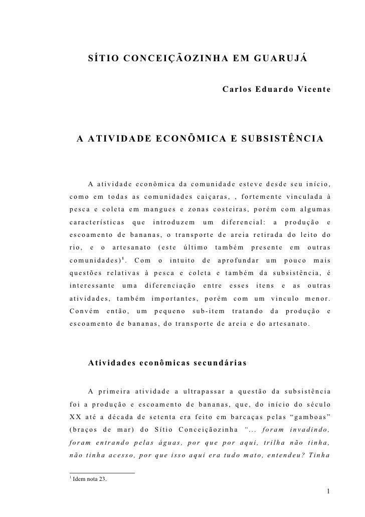 Analise socio-historica da comunidade caicara de Conceicaozinha - Guaruja Parte 3