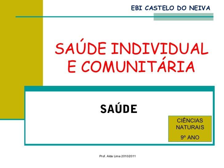 EBI CASTELO DO NEIVASAÚDE INDIVIDUAL E COMUNITÁRIA    SAÚDE                                    CIÊNCIAS                   ...