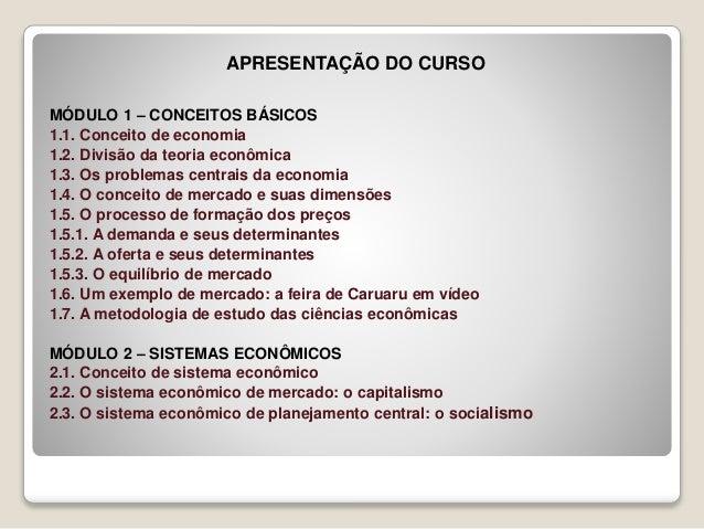 Conceitos básicos de economia Slide 2