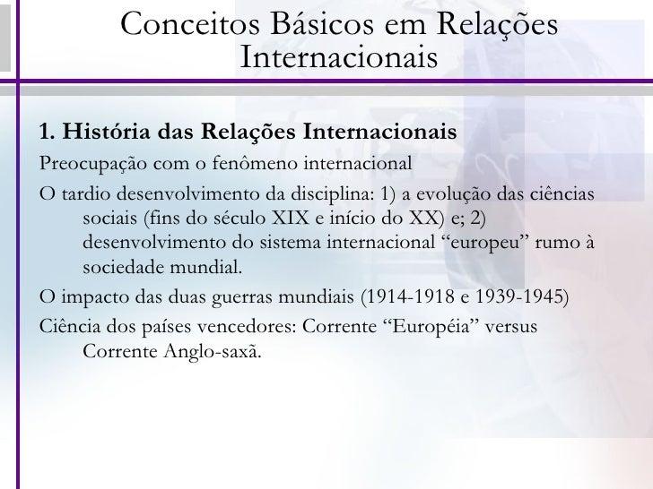 Conceitos básicos em relações internacionais Slide 2