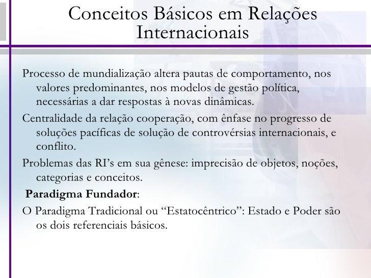Conceitos básicos em relações internacionais Slide 3