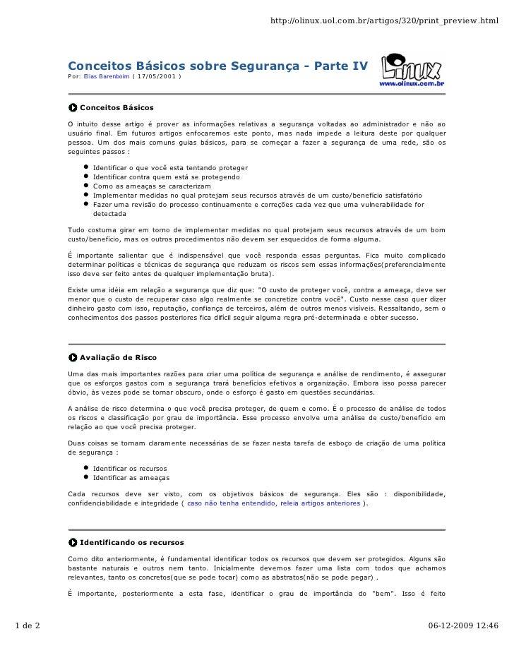 http://olinux.uol.com.br/artigos/320/print_preview.html              Conceitos Básicos sobre Segurança - Parte IV         ...