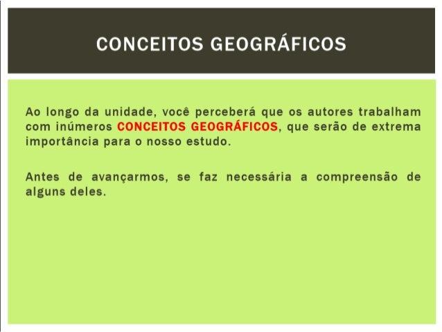 Conceitos geograficos