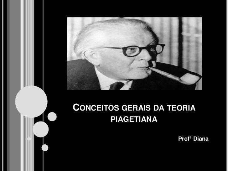 Conceitos gerais da teoria piagetiana<br />Profª Diana<br />