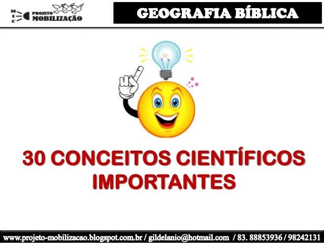 30 CONCEITOS CIENTÍFICOS IMPORTANTES
