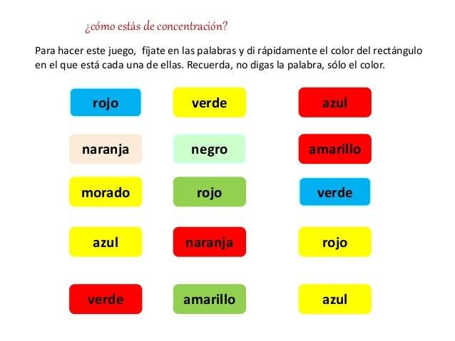 Concentraci n - Colores para la concentracion ...
