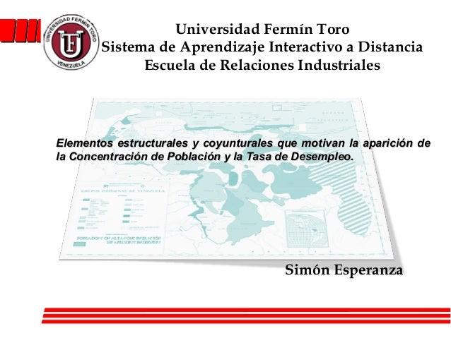 Universidad Fermín Toro       Sistema de Aprendizaje Interactivo a Distancia             Escuela de Relaciones Industriale...