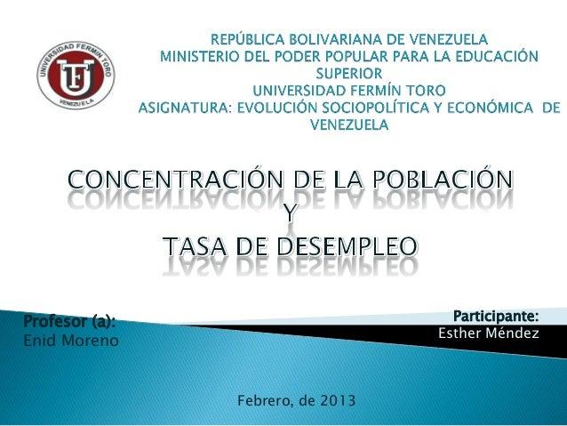Profesor (a):                        Participante:                                   Esther MéndezEnid Moreno             ...