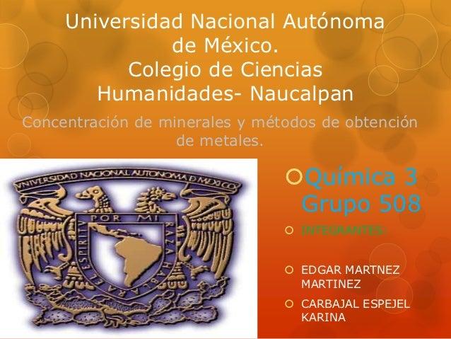 Universidad Nacional Autónoma               de México.           Colegio de Ciencias        Humanidades- NaucalpanConcentr...
